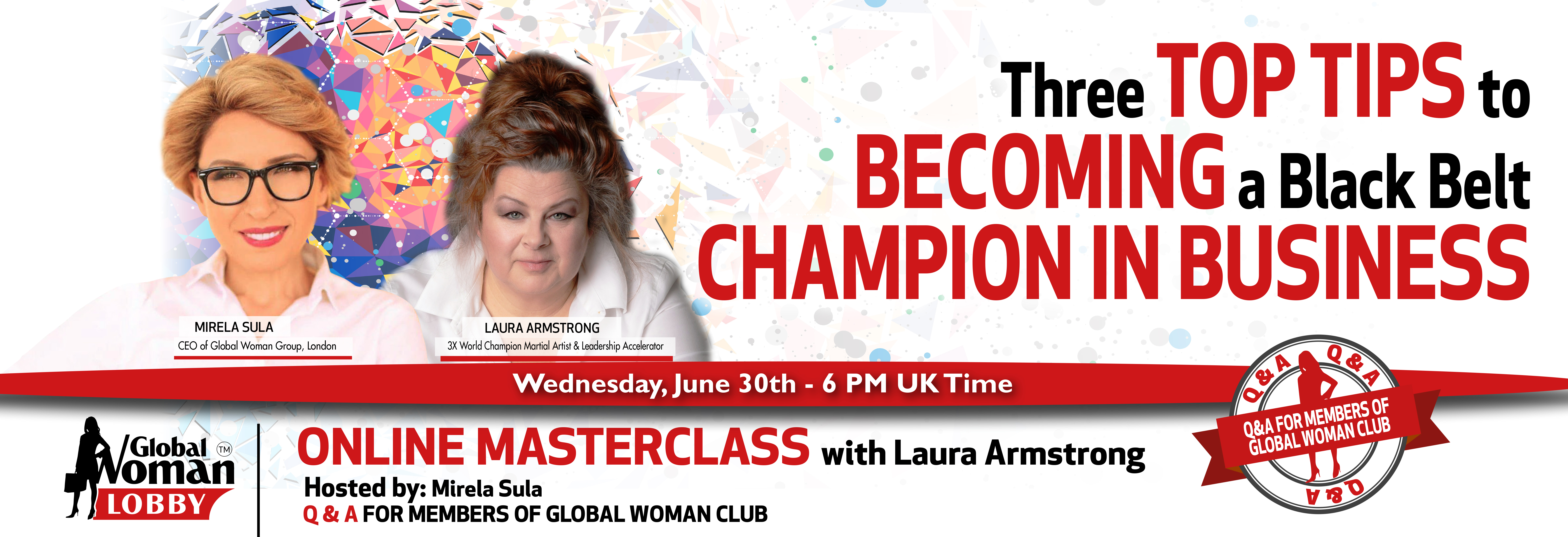 Online Masterclass with Laura Armstrong