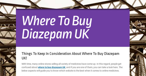 Where To Buy Diazepam UK