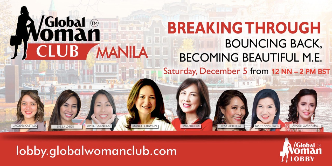 GLOBAL WOMAN CLUB MANILA: BUSINESS NETWORKING MEETING - DECEMBER