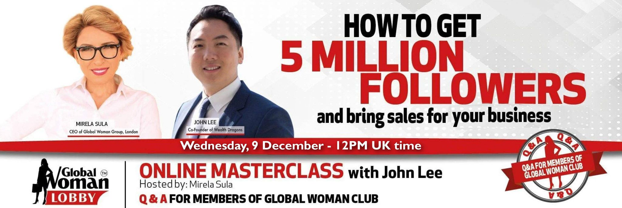 Online Masterclass with John Lee