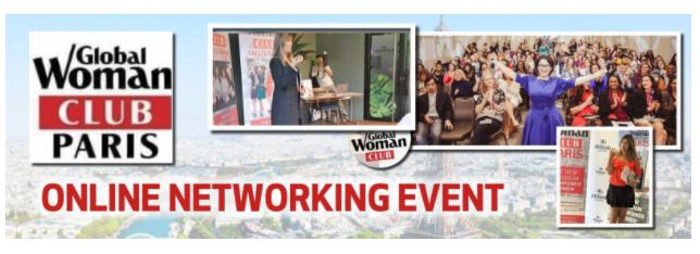GLOBAL WOMAN CLUB PARIS: BUSINESS NETWORKING MEETING - APRIL
