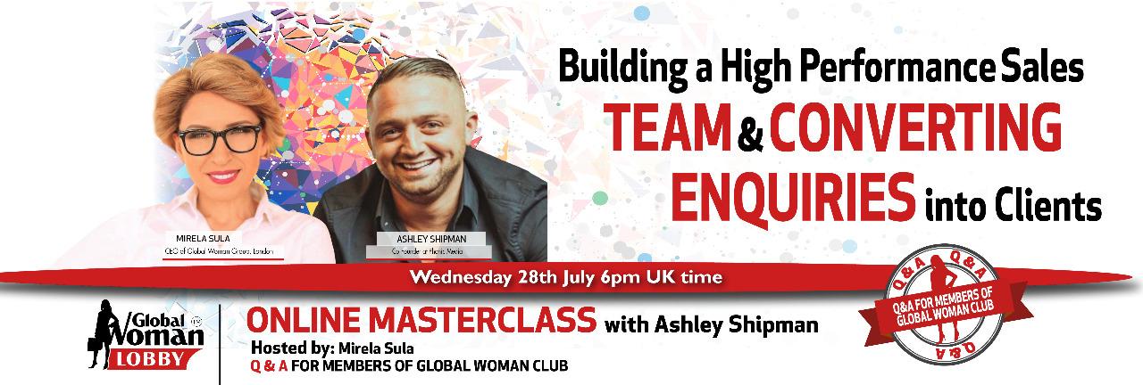 Online Masterclass with Ashley Shipman