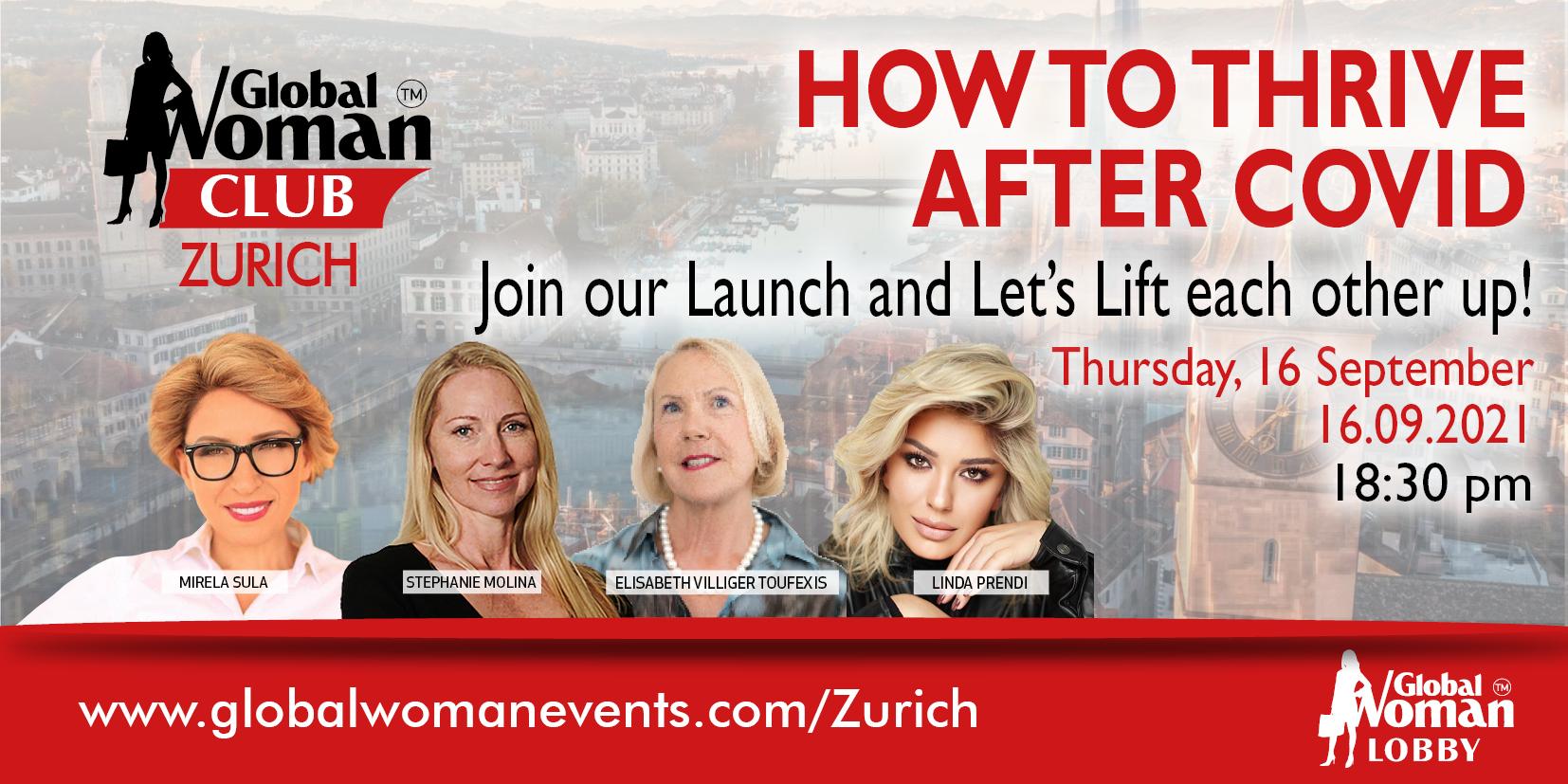 GLOBAL WOMAN CLUB ZURICH: BUSINESS NETWORKING EVENING - SEPTEMBER