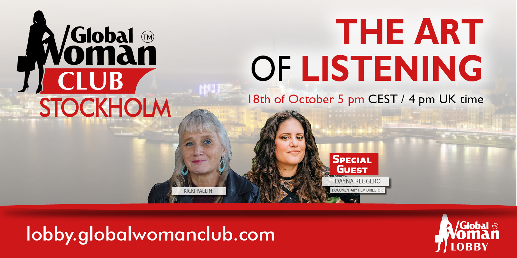 GLOBAL WOMAN CLUB STOCKHOLM : BUSINESS NETWORKING MEETING - OCTOBER